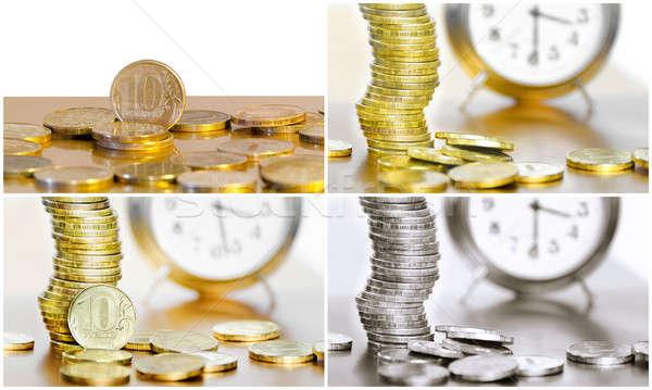 コラージュ コイン 時計 金融 ビジネス お金 ストックフォト © AlisLuch