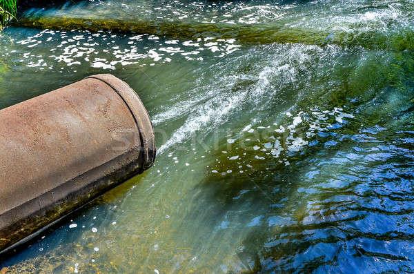 воды трубы реке весны строительство технологий Сток-фото © AlisLuch