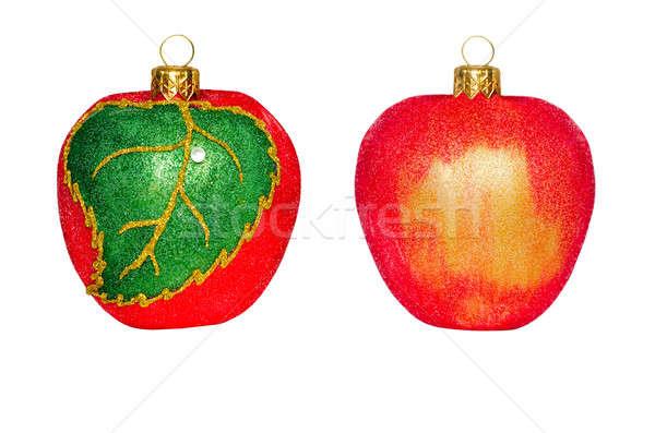 Рождества украшения форме яблоко белый фрукты Сток-фото © AlisLuch