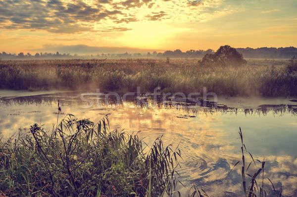 фото Солнечный лет Восход реке небе Сток-фото © AlisLuch