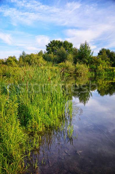 лет пейзаж реке низкий облака Сток-фото © AlisLuch