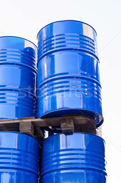 Chemical tanks stored at the storage of waste. Stock photo © AlisLuch