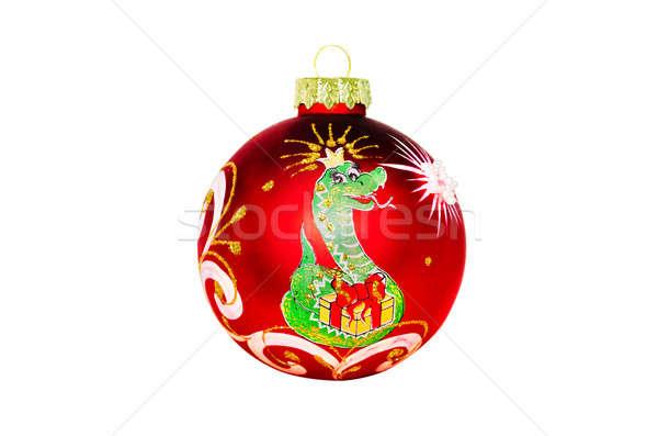 Рождества игрушку изображение змеи белый год Сток-фото © AlisLuch