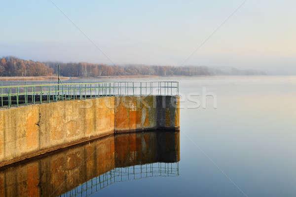 водохранилище реке воды здании строительство стены Сток-фото © AlisLuch