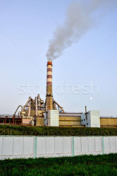 Pollution of atmospheric air from the chimneys of plants Stock photo © AlisLuch