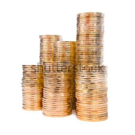 Piles of coins Stock photo © All32