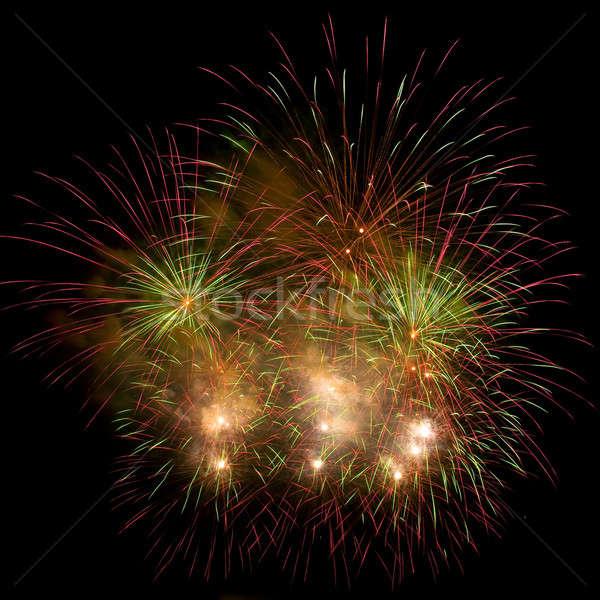 Belle feux d'artifice ciel de la nuit ciel fête lumière Photo stock © All32