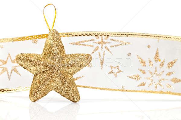 Christmas decoratie geïsoleerd witte aanwezig vakantie Stockfoto © All32