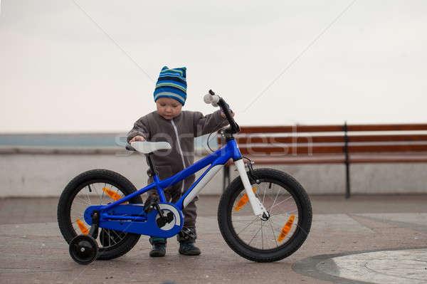 çocuk bisiklet küçük mutlu erkek iletişim Stok fotoğraf © All32