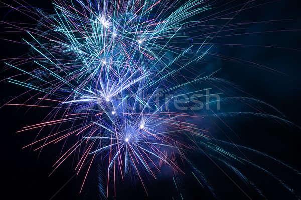 Havai fişek gece gökyüzü gökyüzü parti ışık sanat Stok fotoğraf © All32