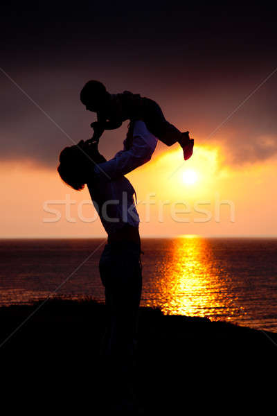 Silhouettes of women and a child Stock photo © All32