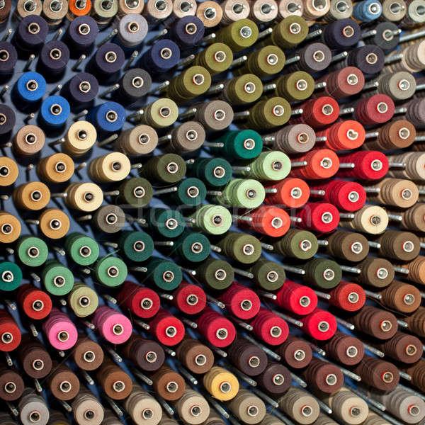 Kleurrijk fabriek machine roze naaien katoen Stockfoto © All32