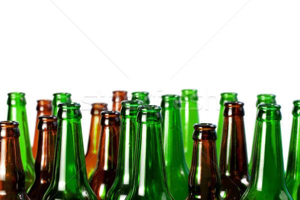 Cerveja garrafas verde vidro marrom isolado Foto stock © All32