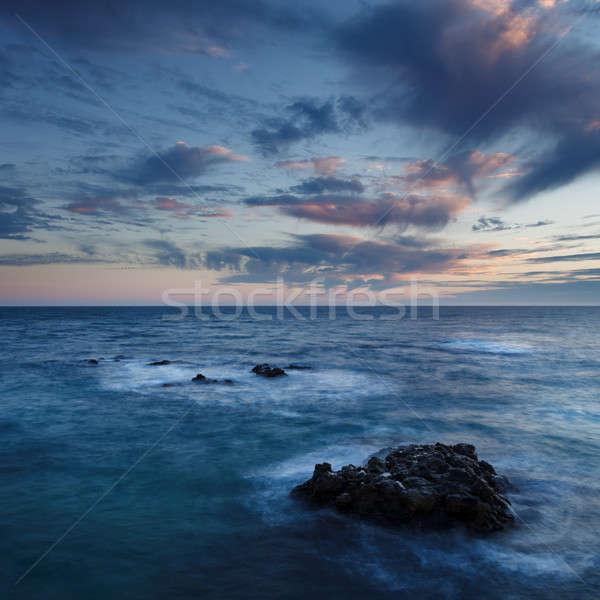 Sea coast  at sunset Stock photo © All32