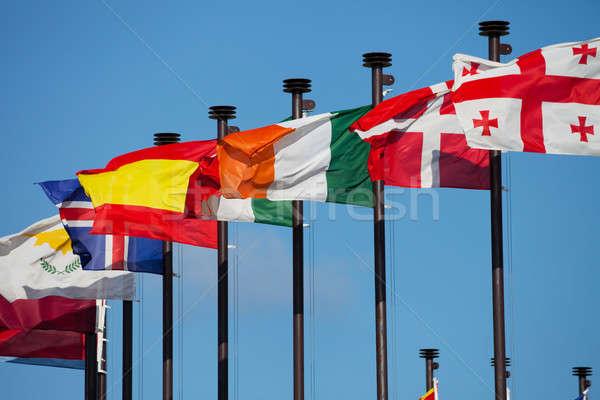 Stock fotó: Zászlók · különböző · országok · fejlődő · utazás · városi