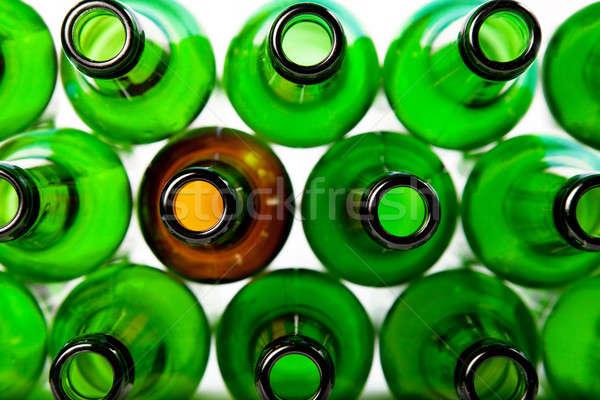 Bier flessen groene glas bruin kan Stockfoto © All32