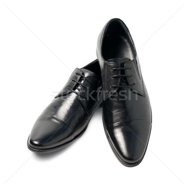 Siyah ayakkabı yalıtılmış beyaz dizayn çift Stok fotoğraf © All32