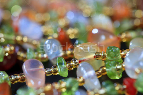 The colored stones in jewelry Stock photo © All32