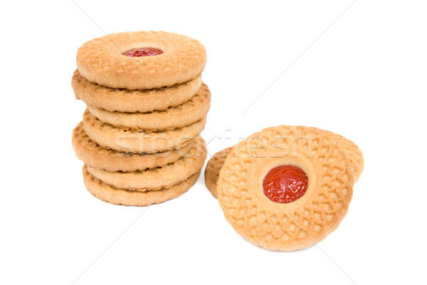 Biscuits with fruit jam. Stock photo © All32