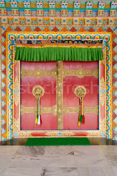The doors of the Buddhist temple Stock photo © All32