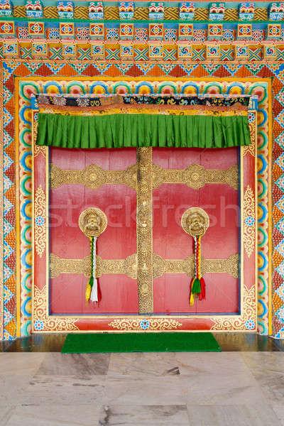 Deuren tempel communie decoraties deur Stockfoto © All32