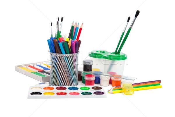 école isolé blanche bureau crayon Photo stock © All32