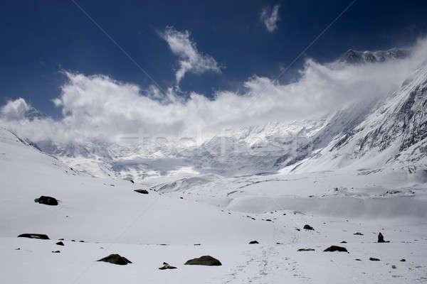 Neve montanhas Nepal natureza beleza gelo Foto stock © All32