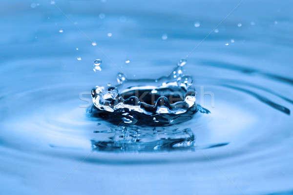 Kroon oppervlak water vallen drop natuur Stockfoto © All32