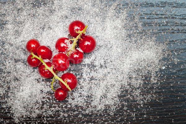 Kırmızı frenk üzümü karpuzu şeker gıda sağlık Stok fotoğraf © All32