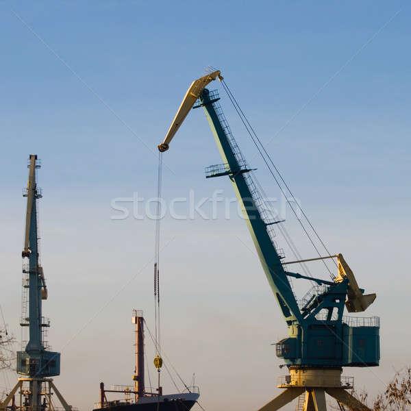 Liman iş gökyüzü su Metal sanayi Stok fotoğraf © All32