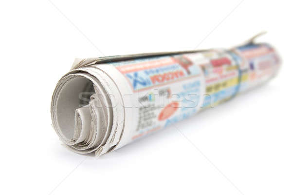 Bunch newspaper. Isolated on white background. Stock photo © All32