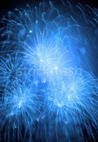 Havai fişek gece gökyüzü gökyüzü parti ışık arka plan Stok fotoğraf © All32