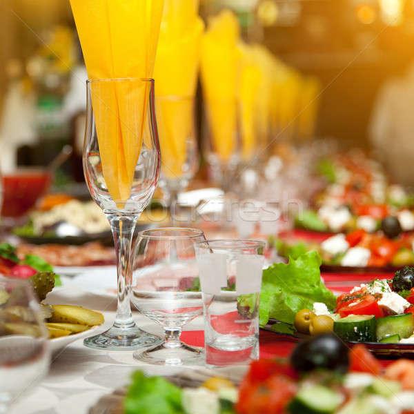 務め 宴会 表 ワイングラス 眼鏡 パーティ ストックフォト © All32