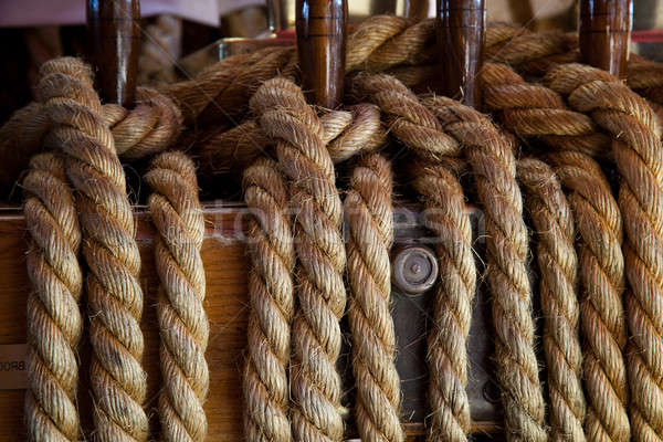 Ropes control the sails Stock photo © All32