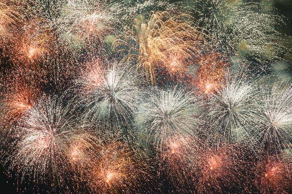 Fajerwerków nieba kolorowy niebo sztuki noc Zdjęcia stock © All32