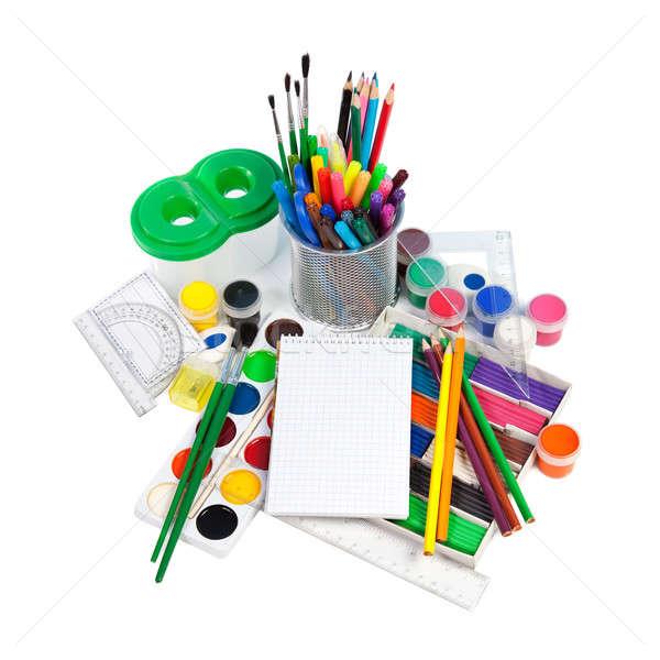 School geïsoleerd witte kantoor boek Stockfoto © All32