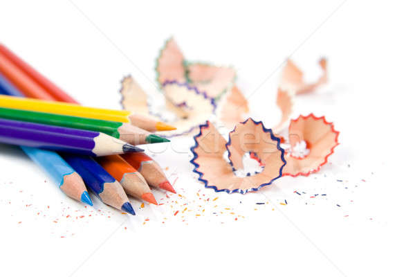 Sharpened pencil with shavings Stock photo © All32