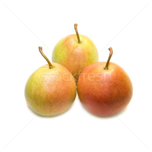 Três peras isolado branco comida natureza Foto stock © All32