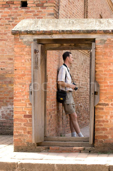 Person over doorway. Stock photo © All32