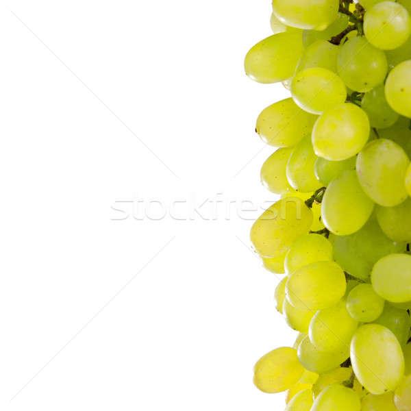 Branco uvas isolado comida vinho fundo Foto stock © All32