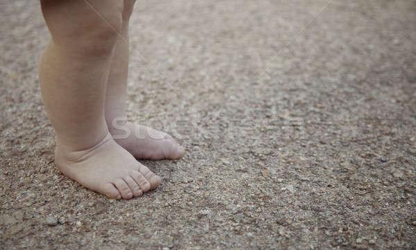 Benen lopen baby lichaam gezondheid leuk Stockfoto © All32