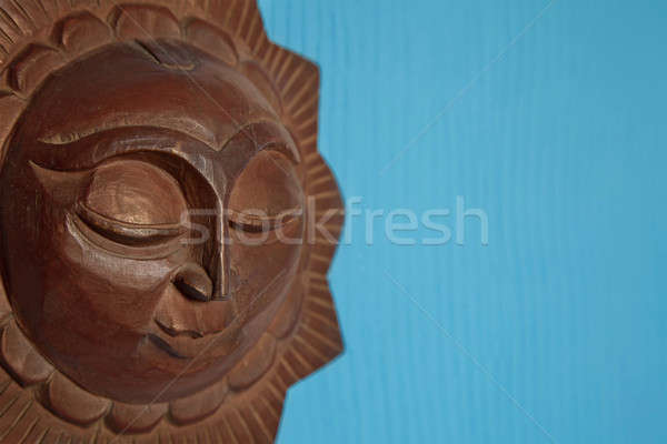 Decorative carved wood sun Stock photo © All32