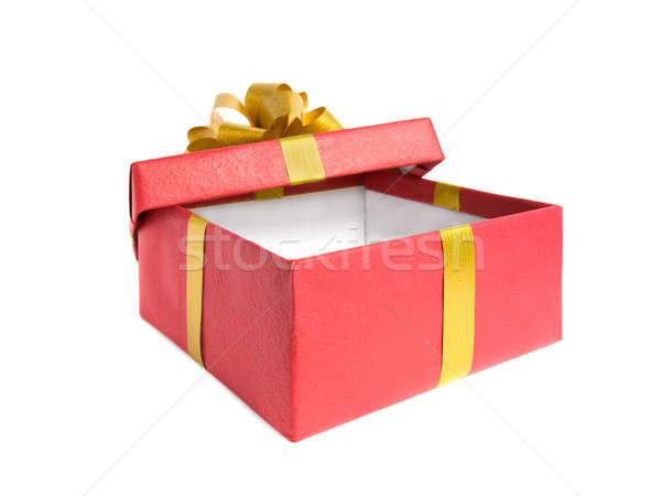Kutu yalıtılmış beyaz kâğıt sevmek mutlu Stok fotoğraf © All32