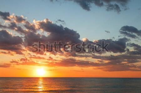 Deniz manzarası güneş bulutlar gün batımı deniz gökyüzü Stok fotoğraf © All32