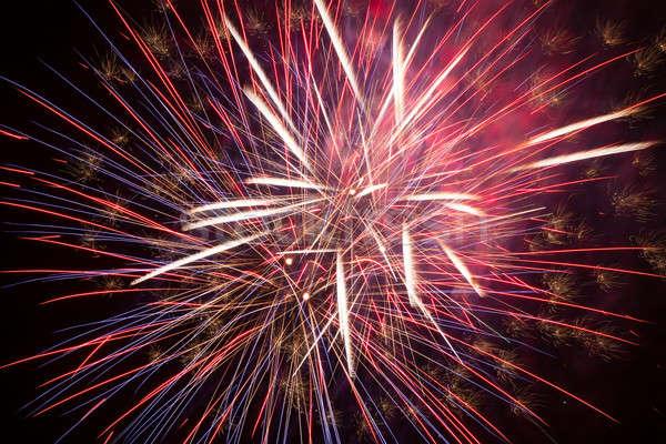 фейерверк ночное небо красочный красный небе свет Сток-фото © All32