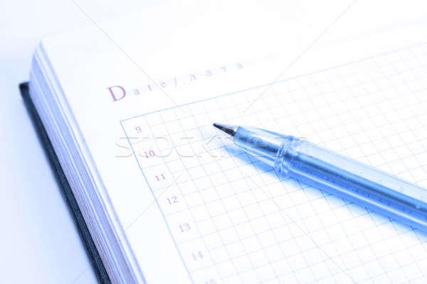 Organizador pluma oficina libro calendario cuaderno Foto stock © All32