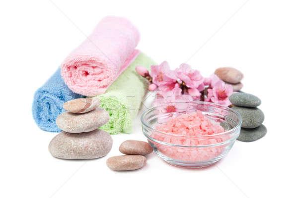 Spa zout bad therapie stenen Stockfoto © All32