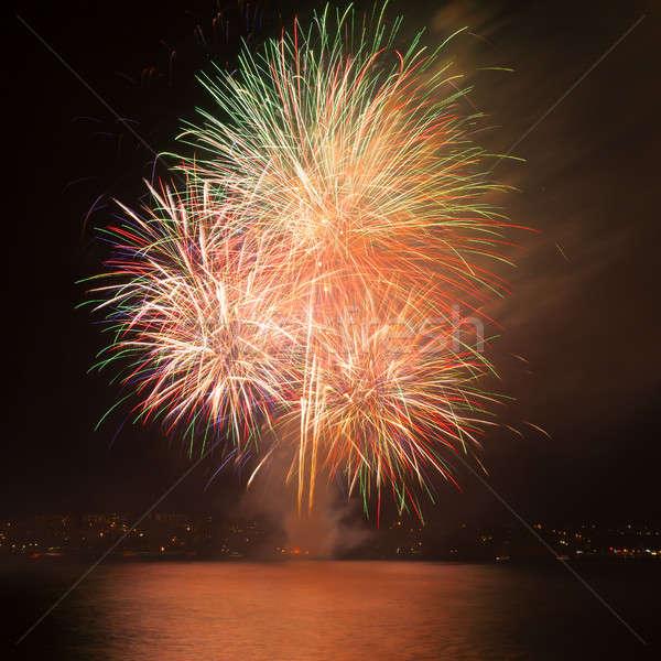 фейерверк воды ночное небо небе свет фон Сток-фото © All32
