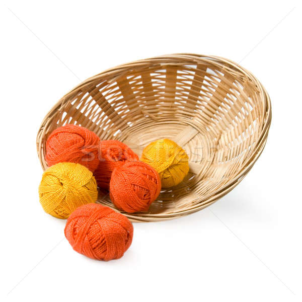 Woven basket with threads. Stock photo © All32