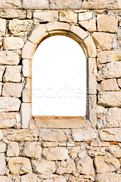 Window in a stone wall Stock photo © All32